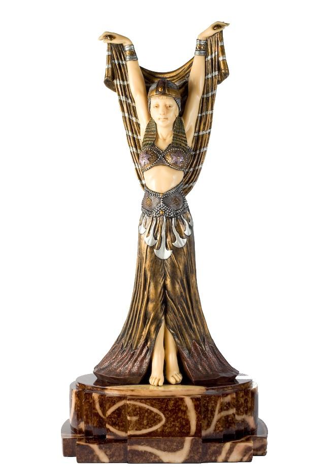 art deco salome figurine d h chiparus statue sculpture demetre chiparus pinterest d art. Black Bedroom Furniture Sets. Home Design Ideas