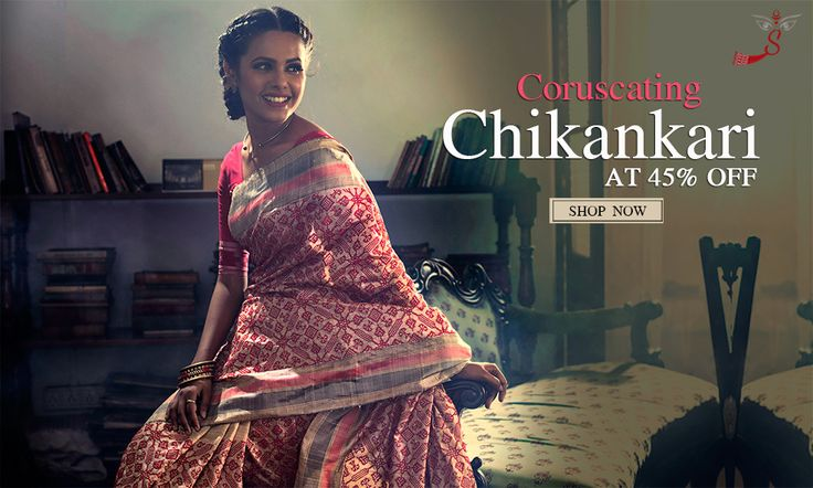 Chikankari sarees are elegant and distinct style of hand embroidered sarees from the Nawabi land of Lucknow that are made with white untwisted yarn sewed with needle by hand on fine six yards of viol, silk, georgette or cotton.