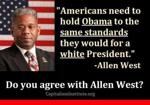 Allen West Bold statement.