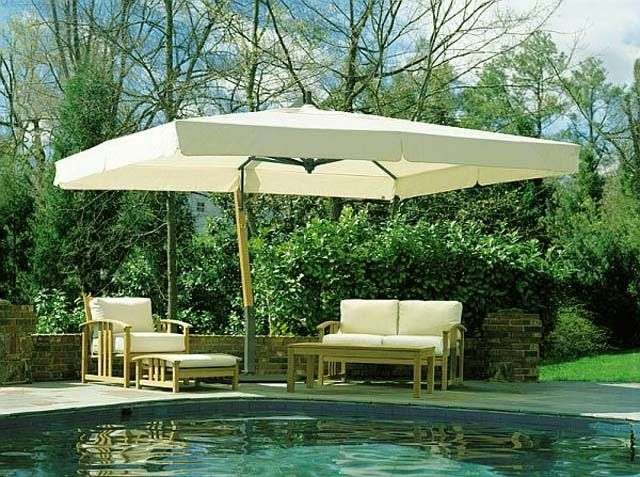 Rectangular Patio Umbrellas Are Basically An Outdoor Umbrella That Protects  The Patio Furniture From Sunlight,