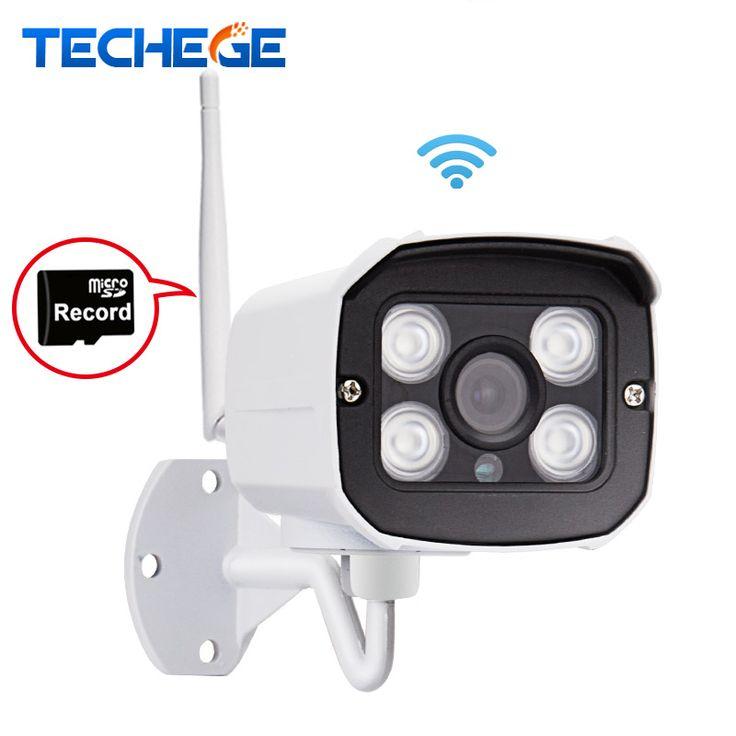 Techege mini 1280*720 p kamera ip wifi wodoodporna kamera hd network 1.0mp wifi nignt wizja w/na zewnątrz bezprzewodowa kamera ip