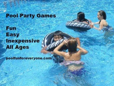 What makes a pool party great?  It's the pool party games!  Get ideas for fun swimming pool party games using floats, inflatables and dive toys.