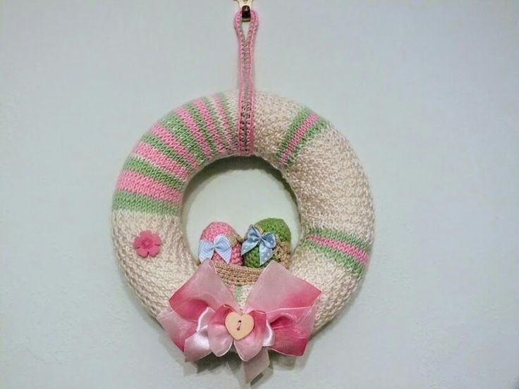 Knitting &crochet Ester Wreath  My own design
