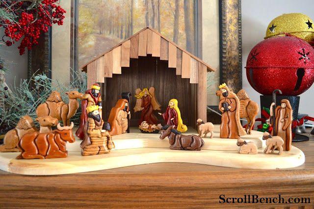 Nativity Scene Intarsia -Link to pattern