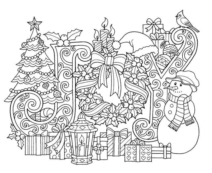Christmas Joy Coloring Page Christmas coloring sheets