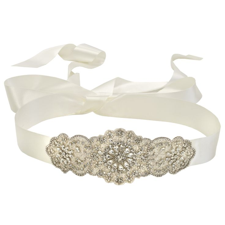 25 best bridal sashes garters images on pinterest for Wedding dress accessories belt
