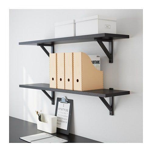 2 x IKEA KNUFF Wooden Magazine File Book Paper Holder