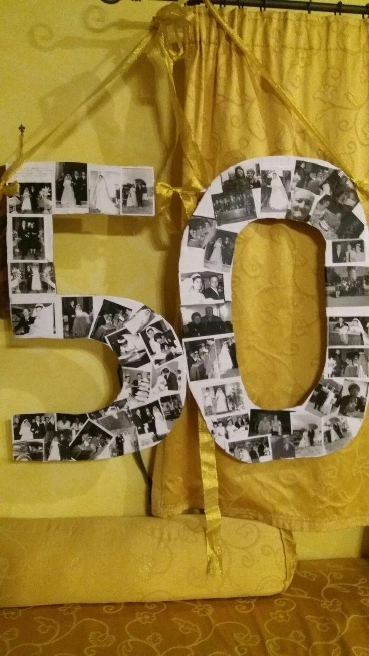 Nozze d'oro dei miei genitori ..un numero con tanto ricordo.