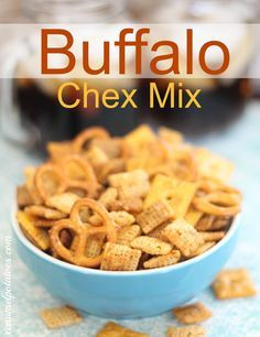 Buffalo Chex Mix.  Chex with the flavor of buffalo wings- YES Please!