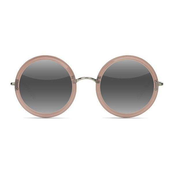 Women's Joplin - Clear Beige round metal - 17945 Rx Sunglasses ($52) ❤ liked on Polyvore featuring accessories, eyewear, sunglasses, glasses, metal sunglasses, hippie sunglasses, clear lens sunglasses, vintage glasses and clear round glasses