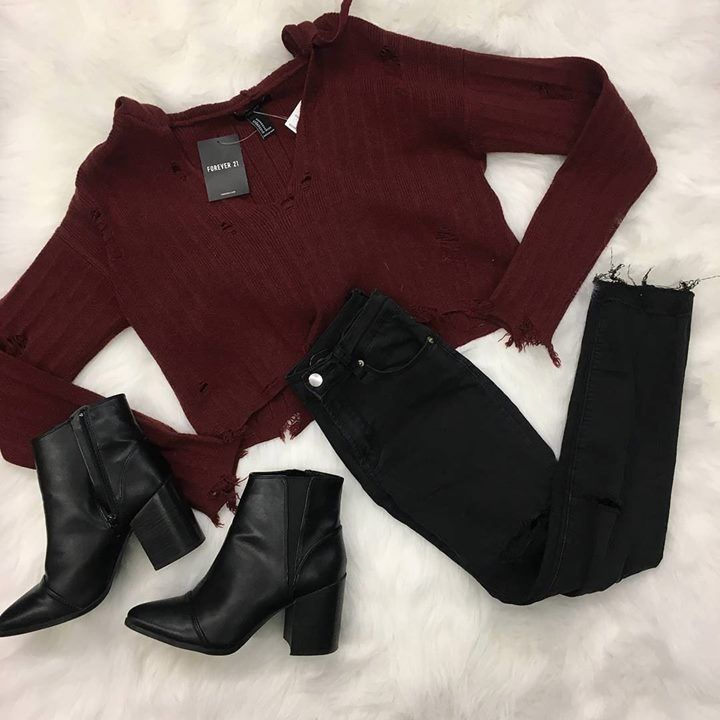 Distressed everything  Loving these must have distressed items for sale at our Harwood Heights location! | Sweater: Forever 21 M $10 new with tags | | Jeans: Brandy Melville 1/2 $12 | | Boots: Express 8 $18 | http://ift.tt/2C0m0Xg - http://ift.tt/1HQJd81