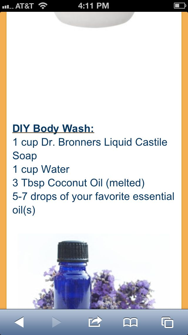 DIY body wash - I have all the ingredients except last one.                                                                                                                                                                                 More