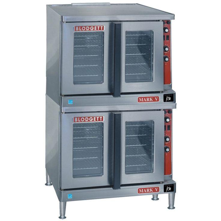 Blodgett MARK-V-200 Full Size Double Deck Bakery Depth Electric Convec