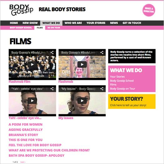 Body Gossip is a positive body image campaign that is working to banish body shame, encouraging everyone to be the best version of themselves and rock their very own brand of gorgeous. Works seamlessly on mobile, tablet and desktop.  www.bodygossip.org