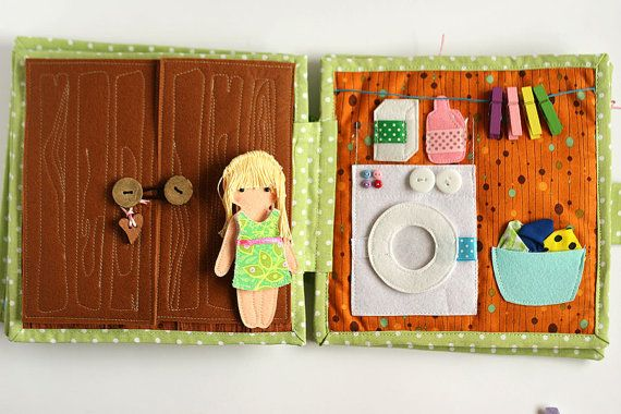 Custom travel dollhouse book felt paper doll busy book by TomToy
