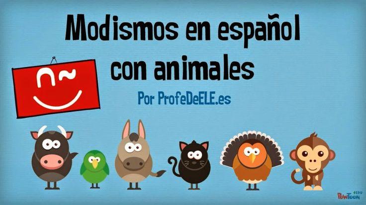 Expresiones en español con animales. Vídeo y actividad online aquí: http://bit.ly/exp-animales (nivel B1/B2) Un material de www.profedeele.es