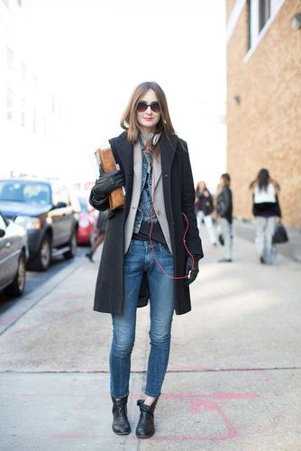 Slim denim got a tomboy-inspired feel with structured layers.