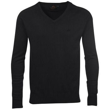 Pullover mit V-Ausschnitt - Cooler schwarzer Pullover von ALPHA. Mit dem V-Ausschnitt liegt dieser Pullover total im Trend. Er ist ideal für einen modernen Businesslook - ab 59,90€
