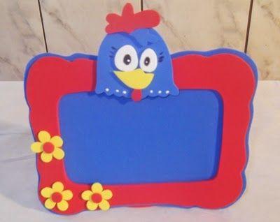 Como fazer porta retrato da galinha pintadinha