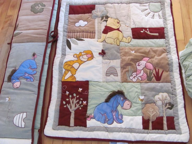Winnie The Pooh Quilted Tigger Eeyore Piglet Crib Bedding