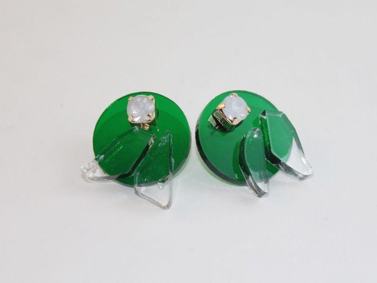 Some big, chunky, translucent earrings. Love em!
