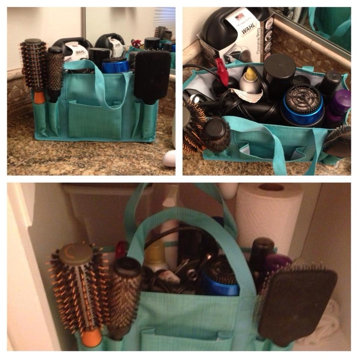 Using the Keep-It Caddy for hair supplies - On sale for $5 when you spend 31 - February only! #thirtone