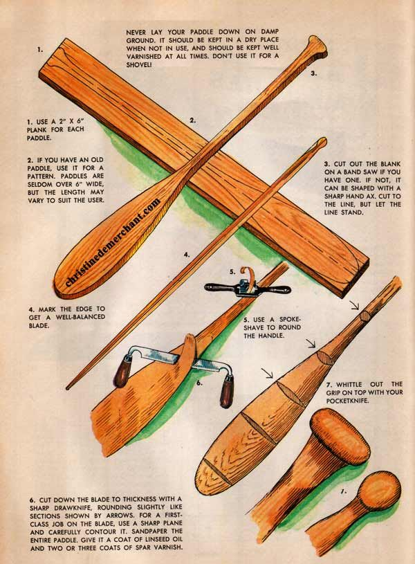 make your own canoe paddles