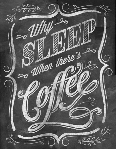 coffee chalkboard design typography