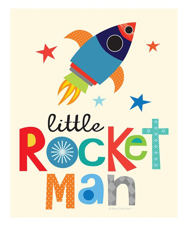 Look at this 'Little Rocket Man' Print on #zulily today!
