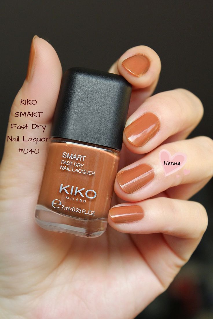 KIKO Smart Fast Dry Nail Lacquer in No.040 Dry nails