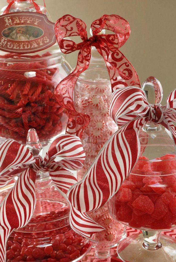 Christmas Decor For Buffet : Create a christmas candy buffet