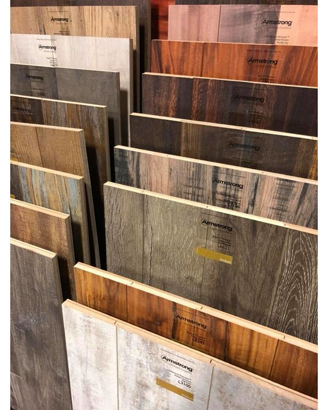 Armstrong Laminate Flooring; crystal clear visuals that look and feel like hardwood or stone plus a surface that resists scratches stains dents and moisture. Choose from countless traditional rustic or modern styles perfect for any room in your home - even your walls!