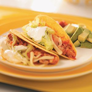 Spicy Turkey Tacos Recipe from Taste of Home -- shared by Kendra Doss of Kansas City, Missouri