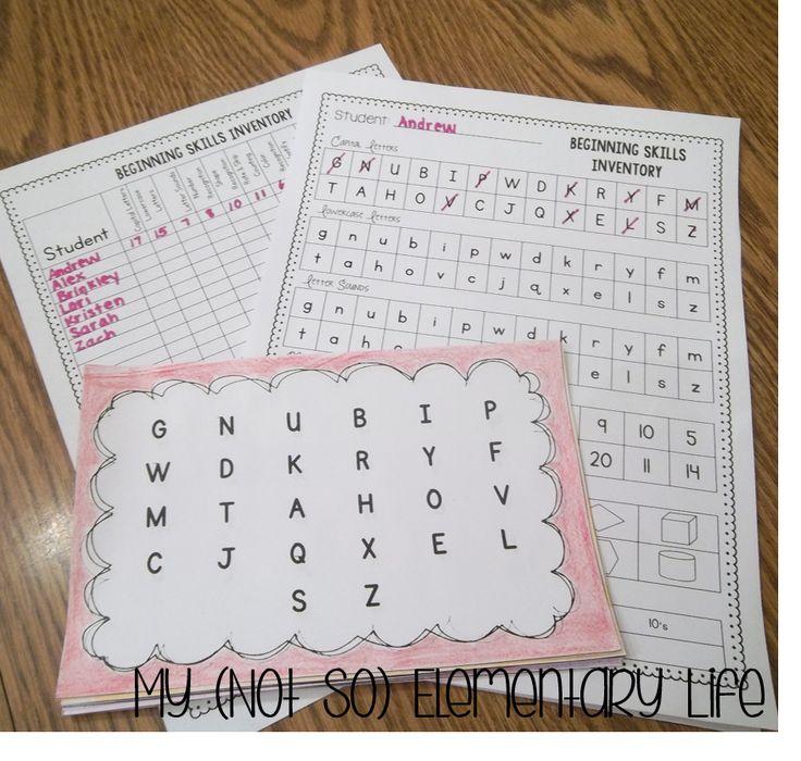 Kindergarten Skills Assessment...great assessment and assessment organization tool for testing basic kindergarten skills