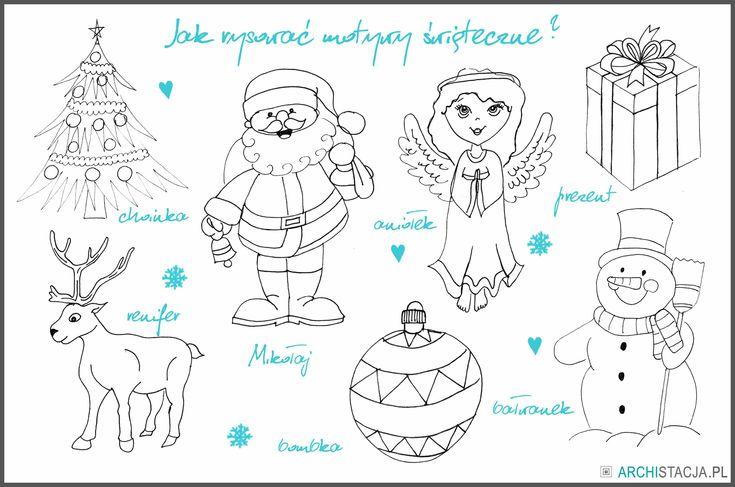 Świąteczne motywy :) http://archistacja.pl/index.php/2015/12/21/swiateczna-stacja-jak-latwo-narysowac-motywy-swiateczne/