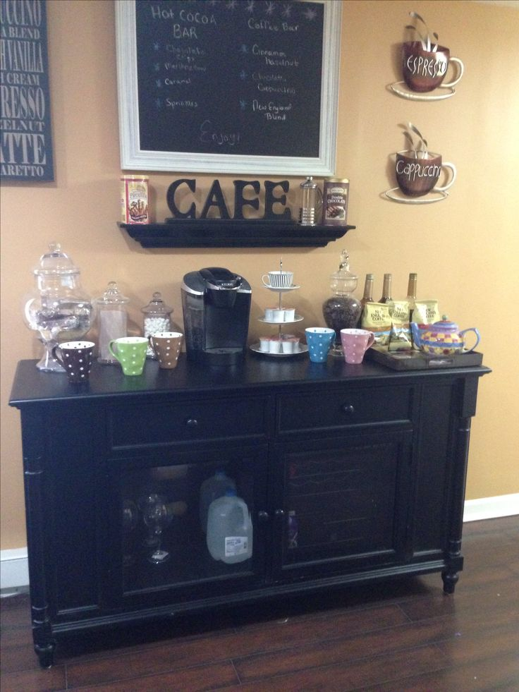 At Home Coffee Wine Bar Finally Complete 90 Of The Items
