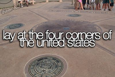 Lay at the four corners of the United States.