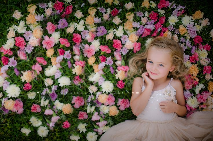 Little girl portrait in flowers magic garden | Pittsburgh Child and Family Photographer