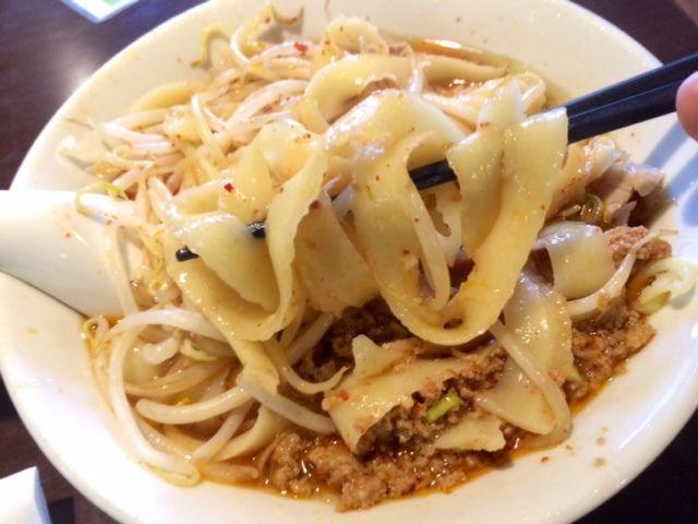 天竺屋台 - 料理写真:もちもち食感の刀削麺です!