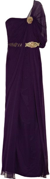 NOTTE BY MARCHESA Embellished Silkcrepe Gown - Lyst