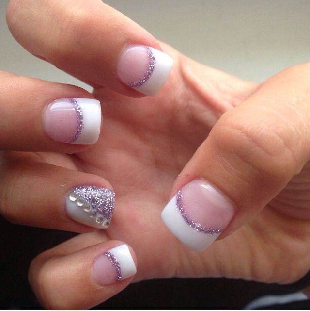 Elegant Silver Nails For Prom: Best 25+ Purple French Manicure Ideas Only On Pinterest