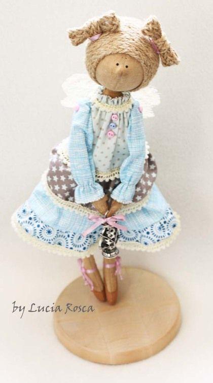 """Коллекционные куклы ручной работы. Ярмарка Мастеров - ручная работа Фейка """"Добрый вечерочек"""". Handmade."""