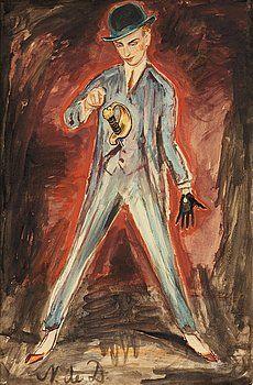 """Nils Von Dardel 1888-1943  """"Dandy med svärd """" ca 1910"""