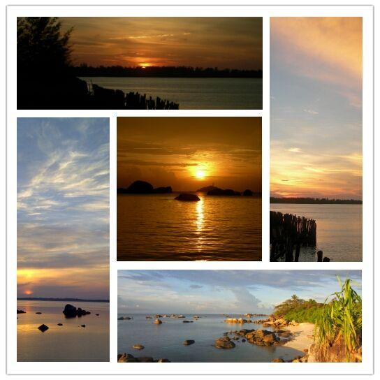 senja pantai belitung