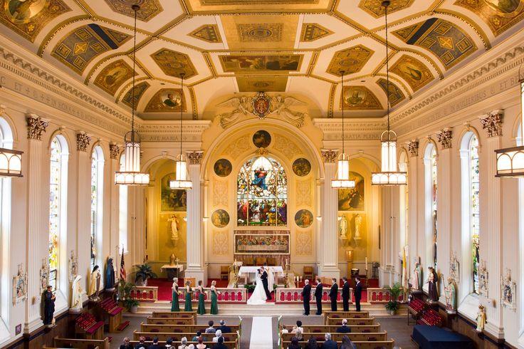 Wedding photograph at Assumption Church, Chicago, IL. September 24, 2011