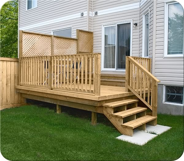 604 best deck ideas images on pinterest backyard ideas for Wood privacy screens for decks