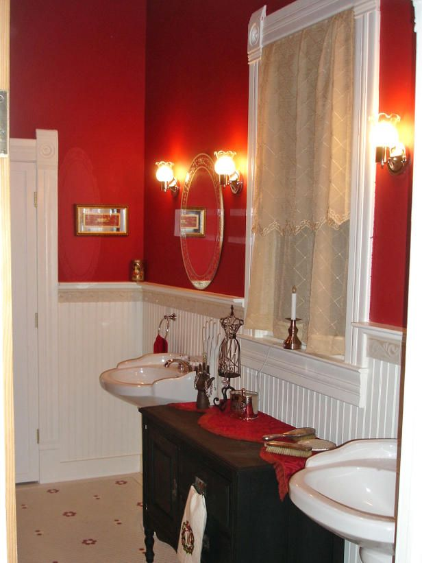 Bathroom Decorating Ideas Red exellent red bathroom color ideas candy apple paint on our walls