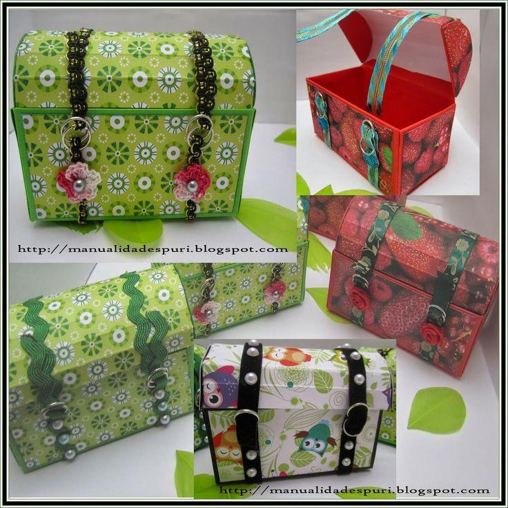 Mini baúles para regalitos | Aprender manualidades es facilisimo.com