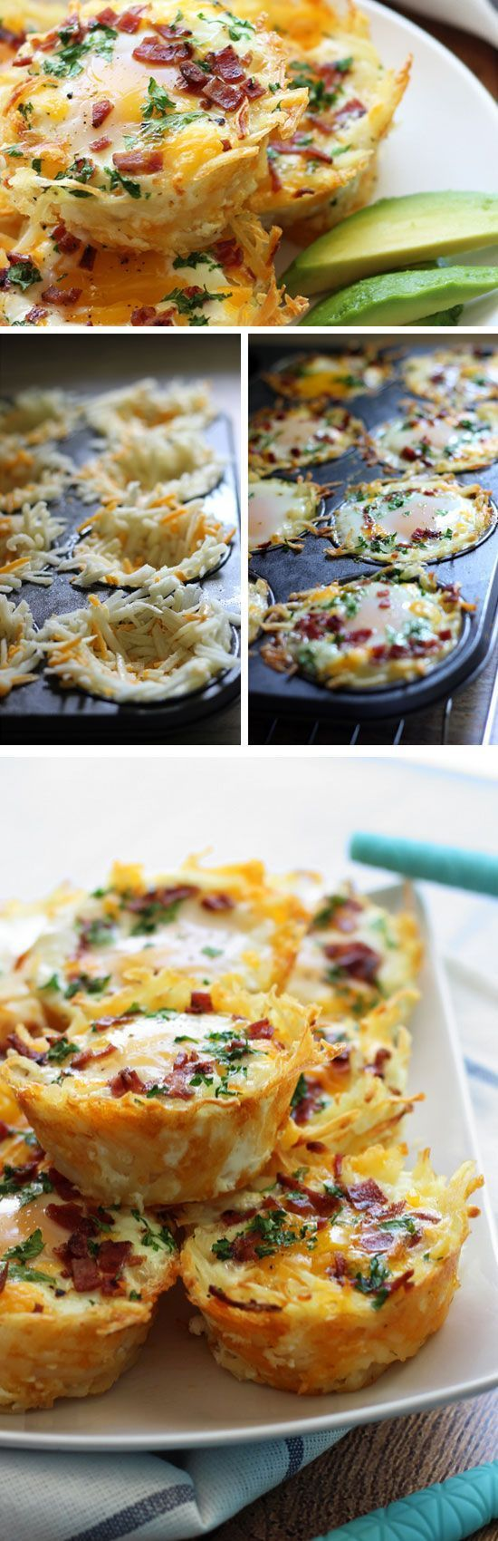 Hash Brown Egg Nests | Homemade Brunch Ideas for a Crowd