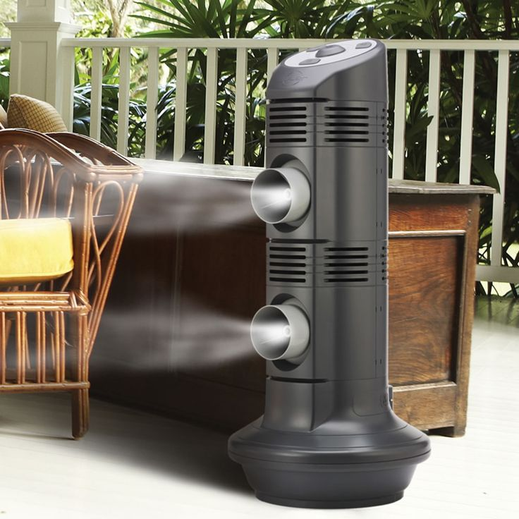 This is the outdoor air conditioner that creates a dry mist to provide cooling without leaving behind moisture.